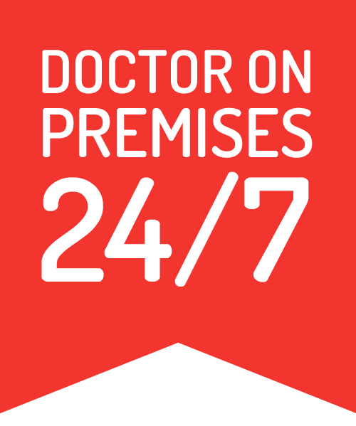 Doctor on premises 24/7